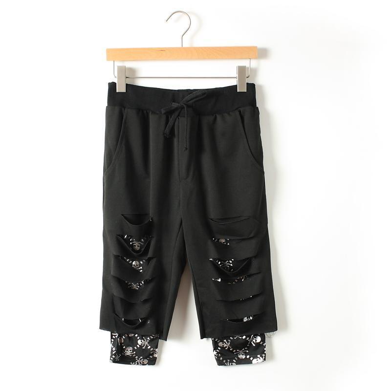 Dos Negro Pantalones Compras m Personalidad Cantante Libres Bar Hombres xl wqnRCxg5nZ