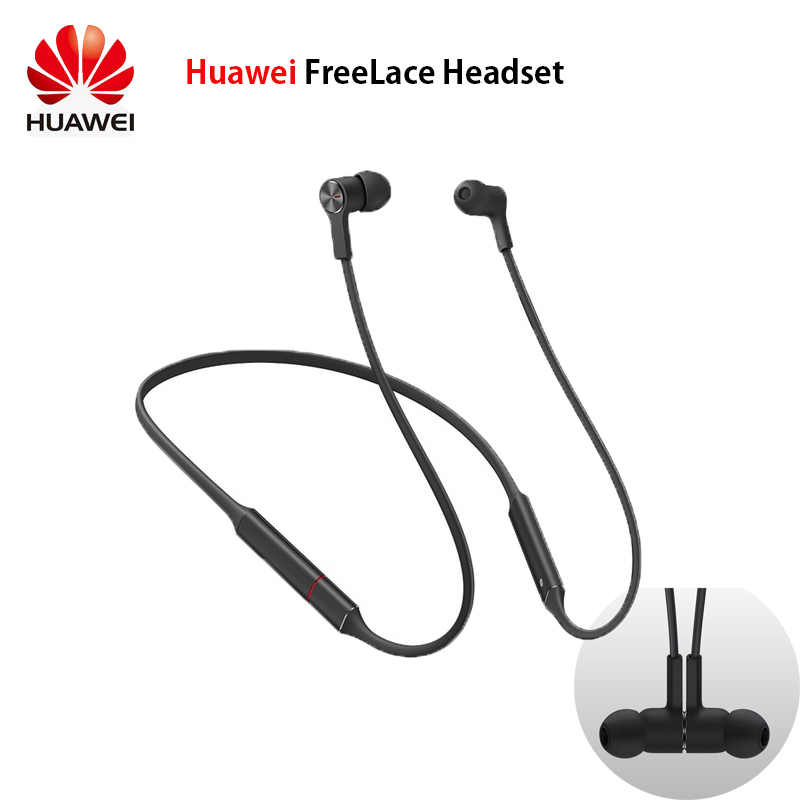 Original Huawei FreeLace sports waterproof in-ear Bluetooth headset Memory metal cable Smart magnetic switch strobe fast chargin
