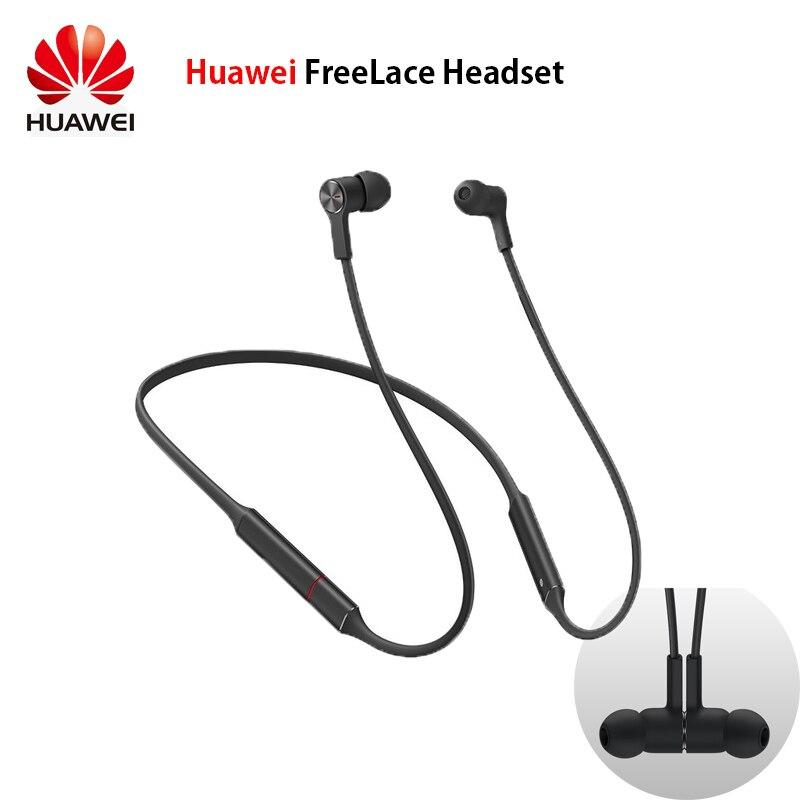 Original Huawei FreeLace sports étanche dans l'oreille Bluetooth casque mémoire métal câble intelligent interrupteur magnétique stroboscope rapide chargin