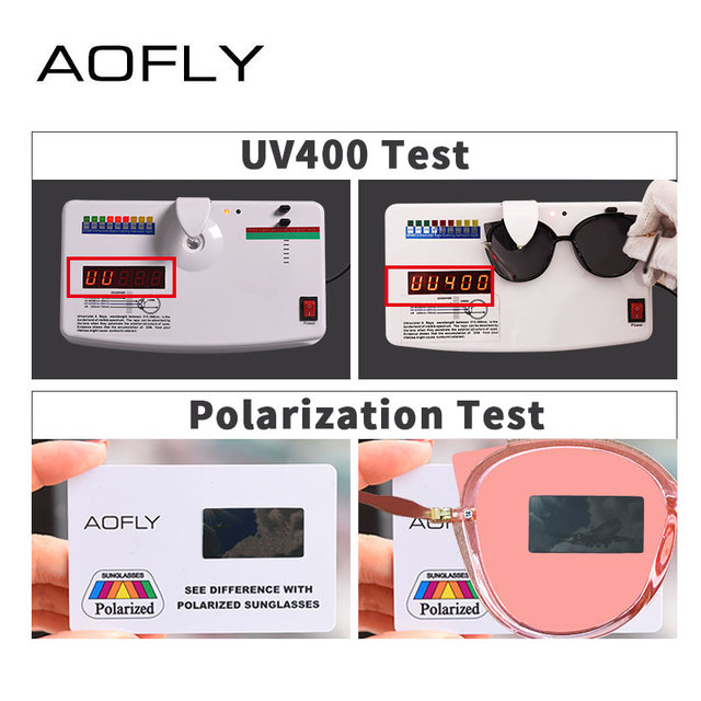 AOFLY BRAND DESIGN Fashion Lady Polarized Sunglasses Women Unique Frame Cat Eye Sun Glasses Gafas UV400 A106 5