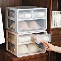 Underwear storage box plastic wardrobe drawer multi layer finishing box home bra socks organizers separation box mx7231754
