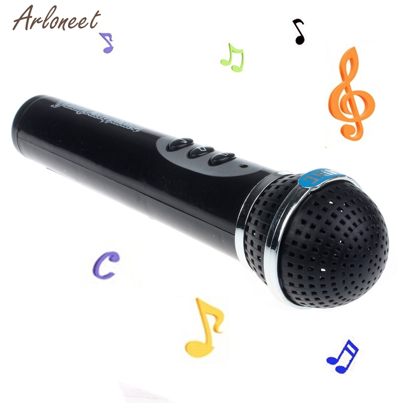 Musical Toys Girls Boys Black Microphone Mic Karaoke Singing Kid Funny Gift Music Toy Children Creativity Imagination Education