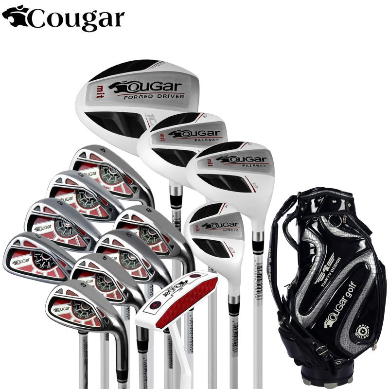 Brand Cougar mens Full Mini Half mens golf clubs complete full golf irons set graphite shafts golf set golf clubs branded simulation mini golf course display toy set with golf club ball flag