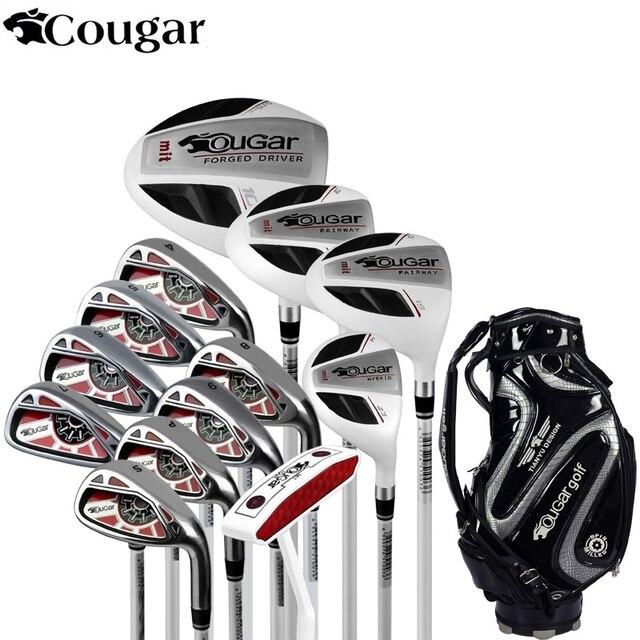 6bfb9226b578f Marca Cougar Full Mini medio mens golf clubs conjunto completo golf  planchas set grafito shafts golf