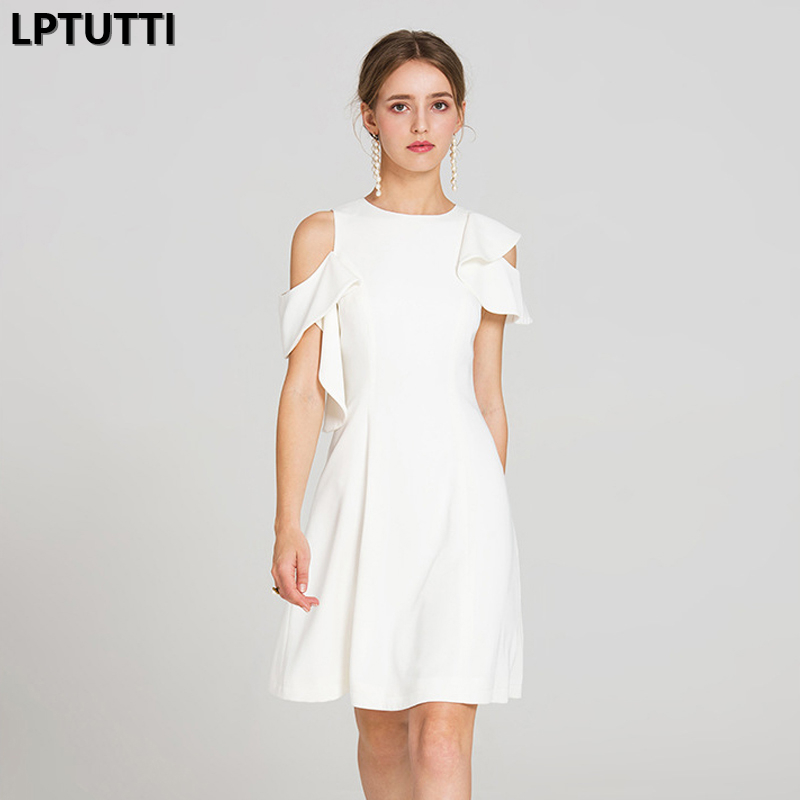 LPTUTTI Off-the-shoulder ruffle New Sexy Woman Social Festive Elegant Formal Prom Party Gowns Fancy Short Luxury   Cocktail     Dress