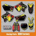 Personalizado Equipo Gráficos y 3 M Fondos Etiquetas etiquetas RM125 RM250 RM 01-08 Motocross Enduro Supermoto