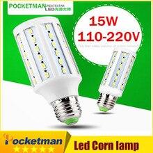 1Pcs LED Corn Light Lamp Warm/Cold White white 15W replace 150W halogen lamp E27 60 5730 SMD 1500LM LED Corn Bulb 220V/110V