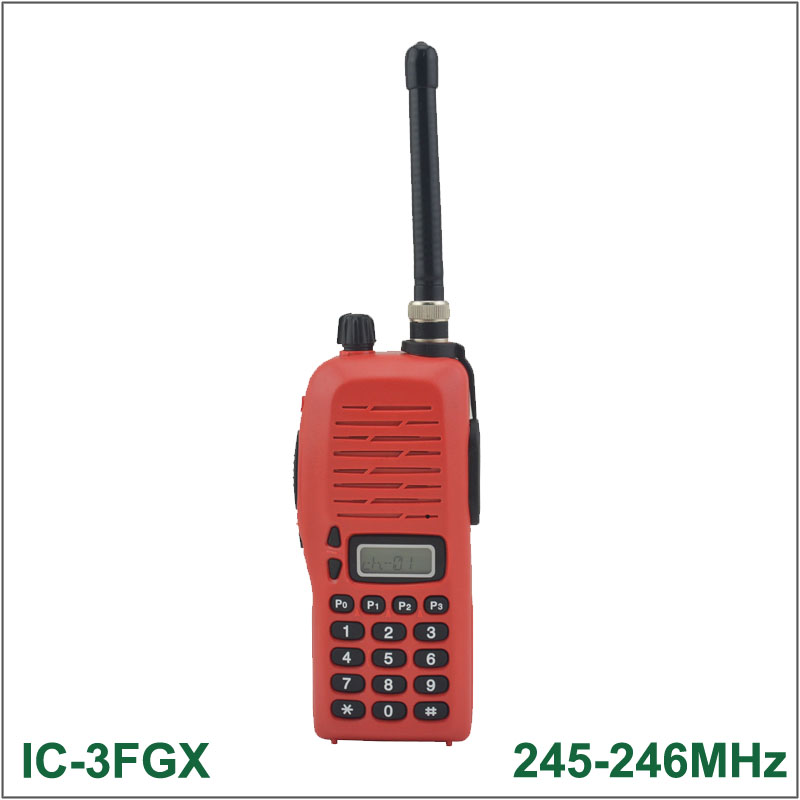 Brand New Walkie Talkie IC-3FGX 245-246MHz 100 Channels 5.5W 100 Channels DTMF Encoder FM Transceiver Two-way Radio