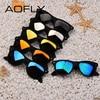 AOFLY Fashion Sunglasses Men Polarized Sunglasses Men Driving Mirrors Coating Points Black Frame Eyewear Male Sun Glasses UV400 5