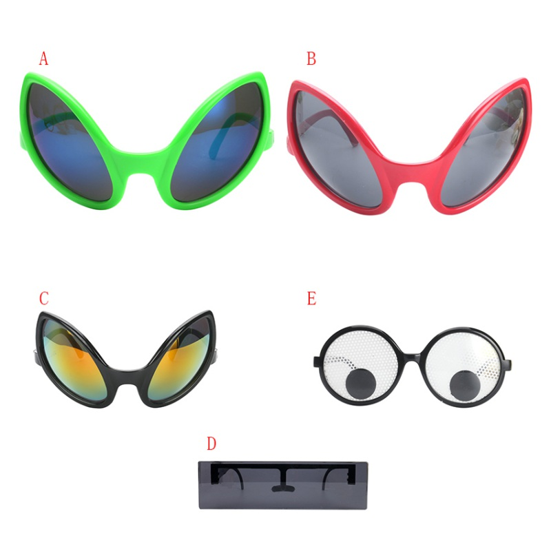 af722f4ca3 Funny Alien Costume Mask Novelty Glasses Halloween Party Photobooth Props Favors  Accessories Party Supplies Decoration Gift