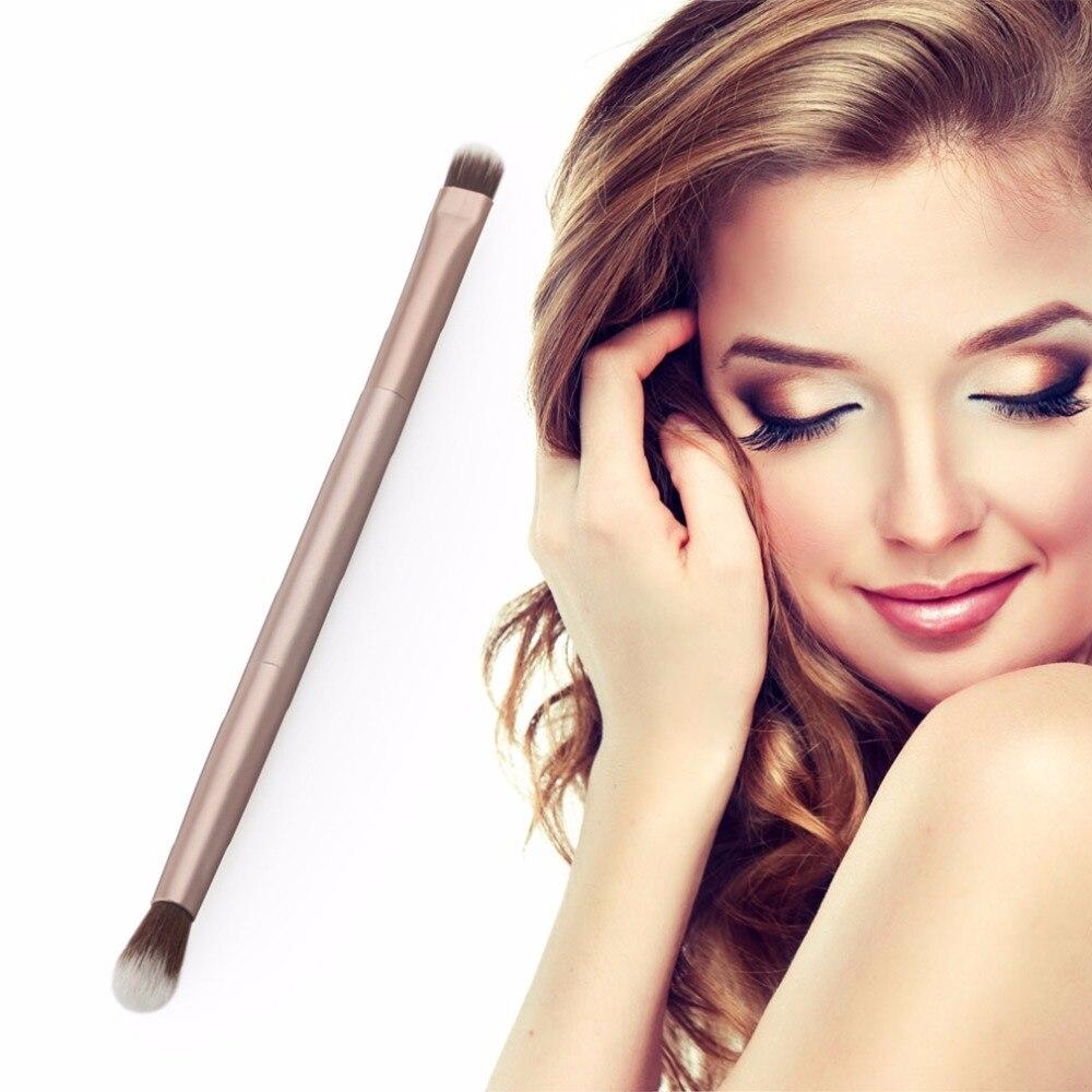 1 pzas de oro rosa de gama alta mango de madera micro cristal seda pinceles de maquillaje