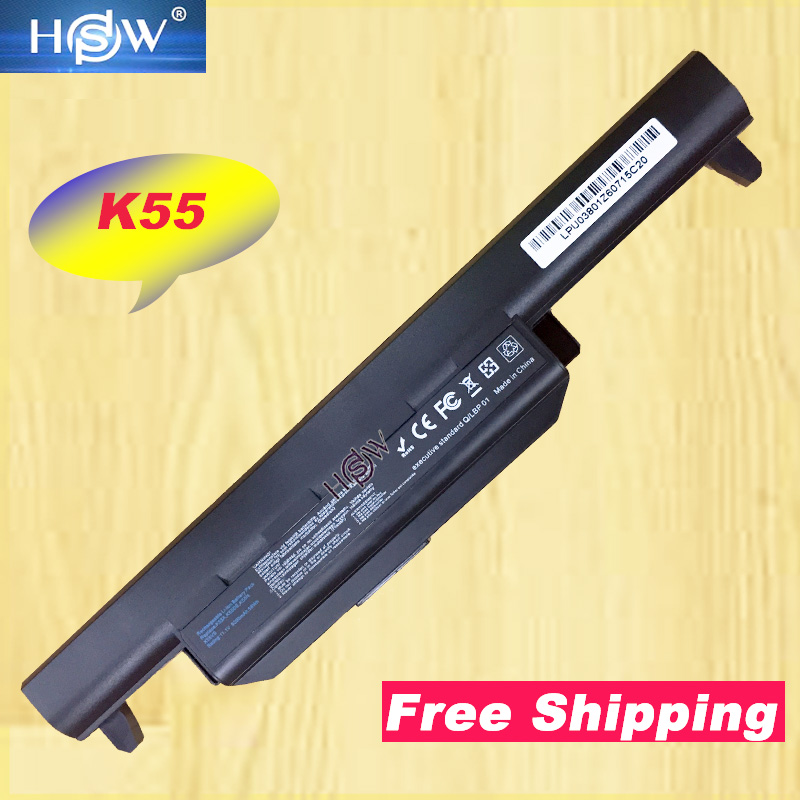HSW New A32 K55 Battery for ASUS X45 X45A X45C X45V X45U X55 X55A X55C X55U X55V X75 X75A X75V X75VD U57 U57A U57V U57VD-in Laptop Batteries from Computer & Office
