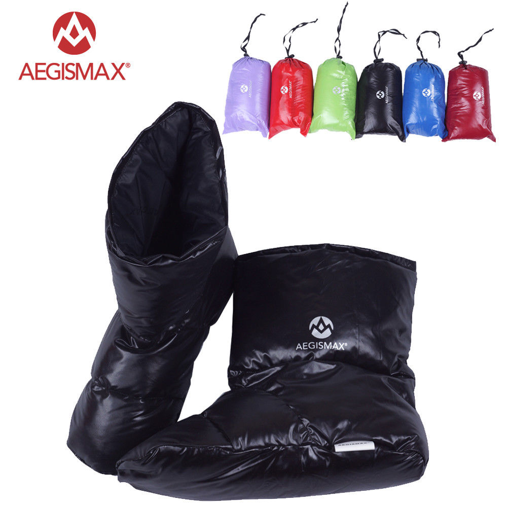 AEGISMAX Duck Down Slippers Shoes Bootees Boots Footwear Camping Feet Cover Warm Hiking Outdoor aegismax outdoor camping d1 90