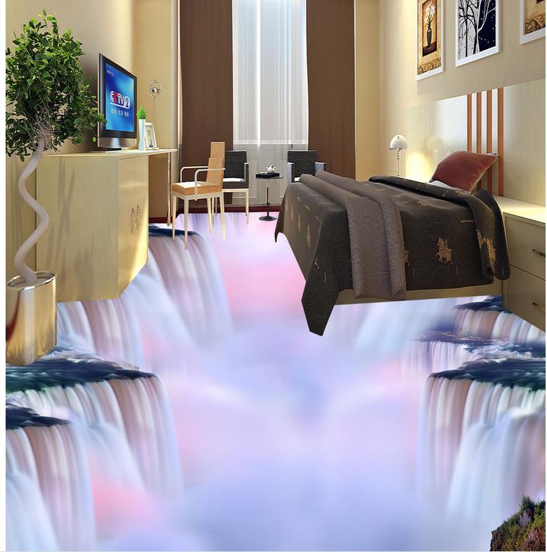 Floor wallpaper 3d for bathrooms 3D wall murals wallpaper floor Custom Photo self-adhesive 3D floor Home Decoration