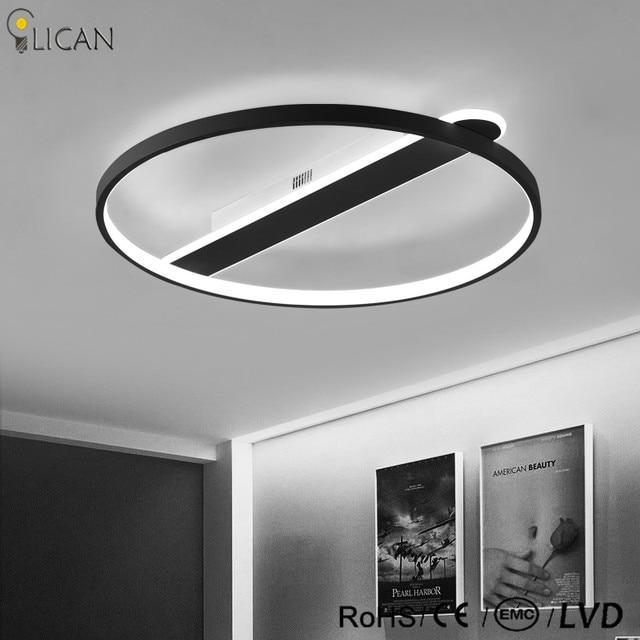 Lustre de plafond moderne Moderne LED Plafonniers salon Chambre luminaire plafonnier Blanc Noir Rond LED Plafonnier.jpg 640x640 5 Élégant Luminaire Plafonnier Led Kdh6