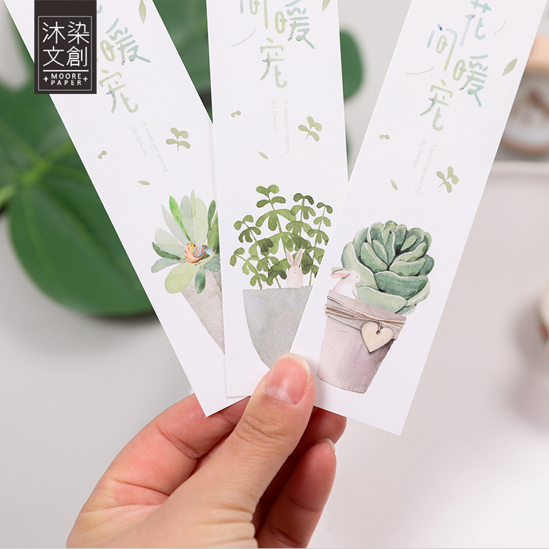 30 Pcs/pack Cactus Plants Bookmark Mark Of Page Decorative Stationery Film School Office Supply