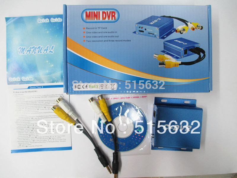 Free shipping Surveillance camera adapter CCTV  Mini C-DVR Video/Audio Recorder Motion Detection TF Card Recorder MINI DVR 1ch mini camera kit mini dvr kit wd model portable mini cctv surveillance 32g tf card dvr mini camera car dvr 8pcs 940nm leds