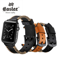 Eastar hot sell White Wire Genuine Leather Strap for apple watch 42mm 38mm Strap for apple watch band Serise 5 4 3 2 1 40mm 44mm|Watchbands|Watches -