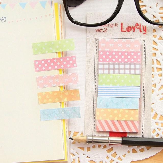 1 Pc/lote Bonito 160 Páginas Etiqueta Post Post It Bookmark Apontá-lo Marcador Memorando Bandeiras Sticky Notes