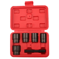 6 Piece Nut Bolt Extractor 17Mm 31/32 Sleeve Extractor Locking Wheel Nut Removers Damaged Rounded Bolt Hand Operated Tools