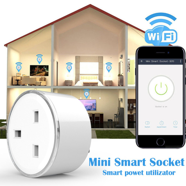 Smart phone charger UK type Wireless WIFI Remote Control socket Home Voice Control Works With Google Home Mini Alexa IFTTT