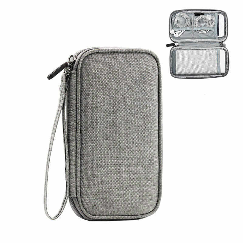 Portable Power Cord Cable Zip Digital Bags Unisex Wires Case Gadget Organizer Tote Charger Line Organizer Trip Pouch Accessories