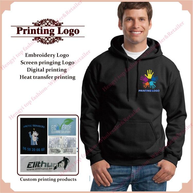 Custom Hoodies Men Women DIY Printing design your own Custom screen  printing hoodies Digital printing Blank Cotton Pullover HY 864d0a39a