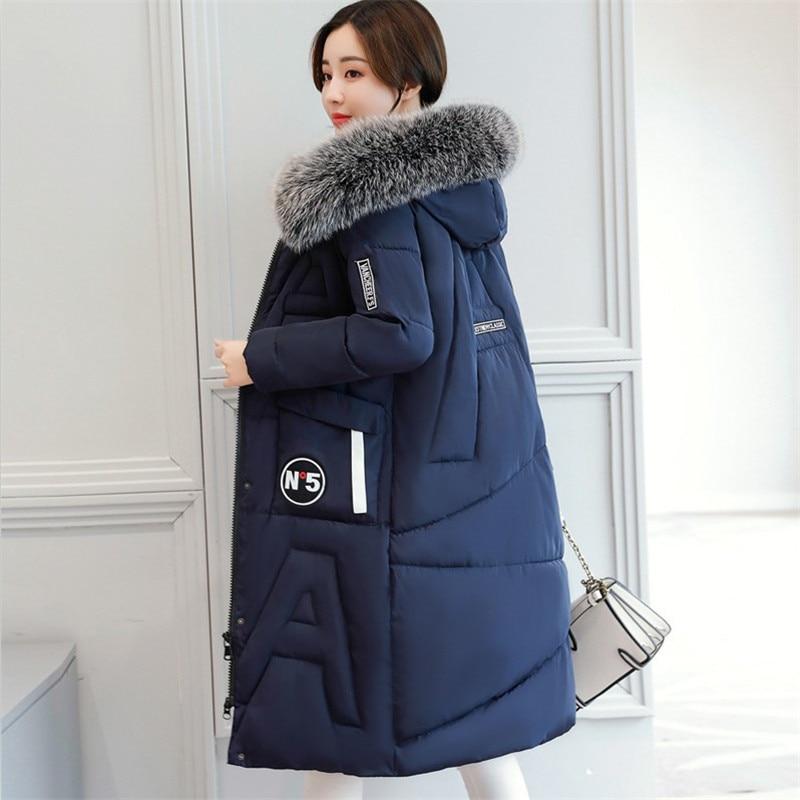 Winter Jacket Women Thick Warm Hooded   Parka   2019 New Fashion Female coat cotton Padded Plus Size 3XL Long Coats Slim Casual Fur