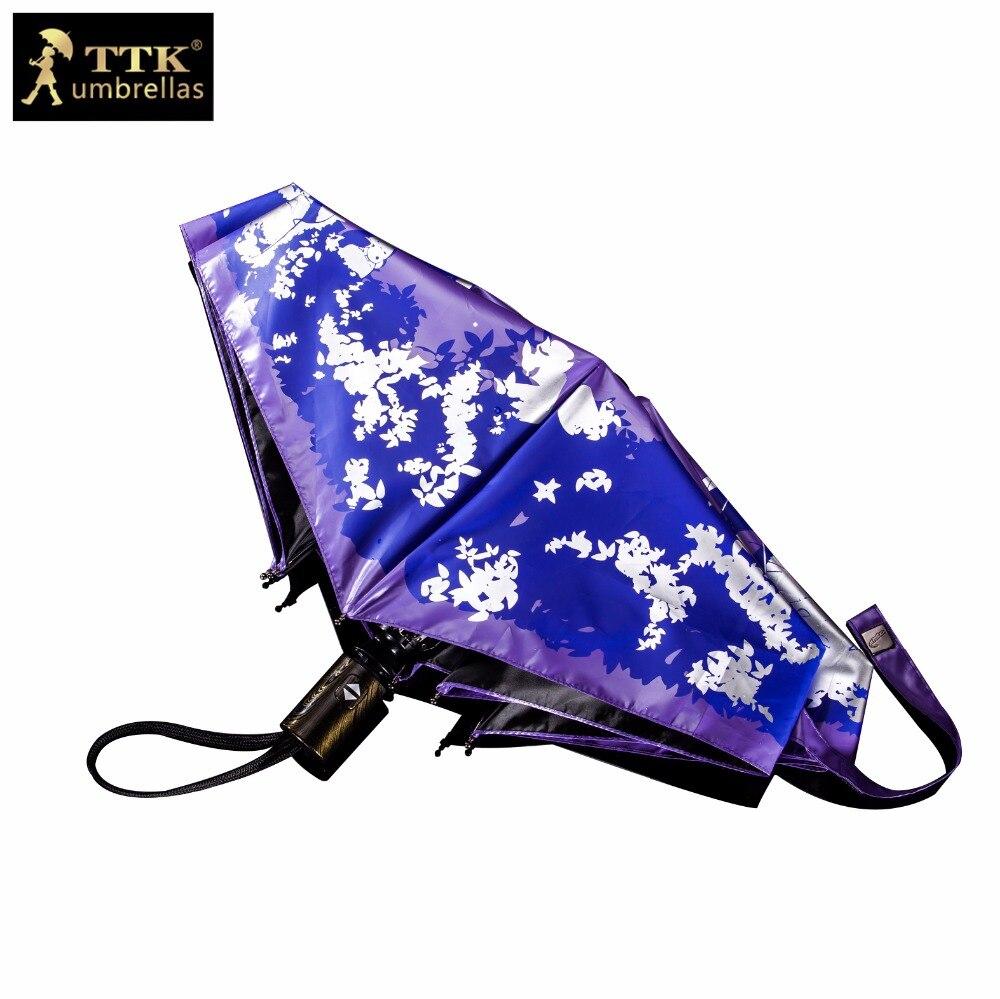 børn paraply kat automatisk foldning paraplyer kvindelige TTK - Husholdningsvarer