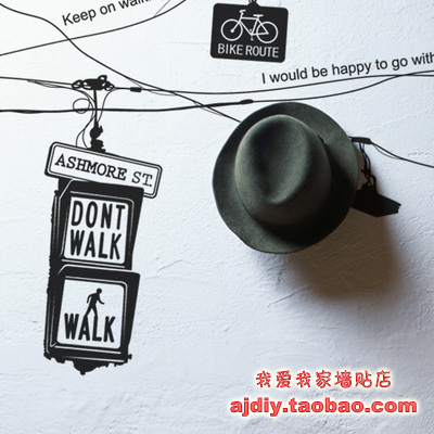 Traffic Light Wall Stickers Room Design Traffic Wall Decal Home Decoration wall covering