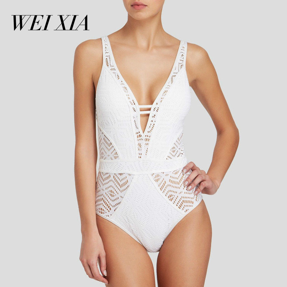 WEIXIA 1801 <font><b>One</b></font> Piece <font><b>Black</b></font> <font><b>White</b></font> Swimwear Long <font><b>Sleeve</b></font> <font><b>Swimsuits</b></font> Women Retro Bathing Suit simple design 2018 Summer New Arrival