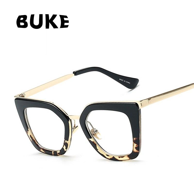 BUKE 2018 Gafas Cat Eye Women Eyeglasses Clear Lens Spectacle Frame  Fashion Female Sun Glasses Optical Eyewear