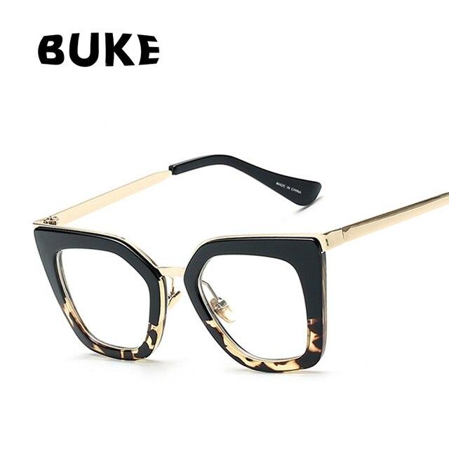 buke 2018 lunettes cat eye femmes lunettes lentille claire monture de lunettes mode femme soleil. Black Bedroom Furniture Sets. Home Design Ideas