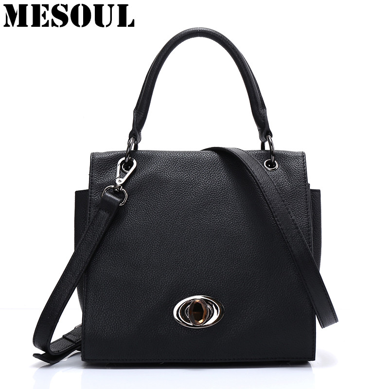 100% Real Leather Ladies Handbags Women Genuine Leather Shoulder Bags Black Messenger Bag High Quality Designer Luxury Brand Bag ly shark brand luxury handbags women bags designer female shoulder messenger bag casual high quality ladies genuine leather bags