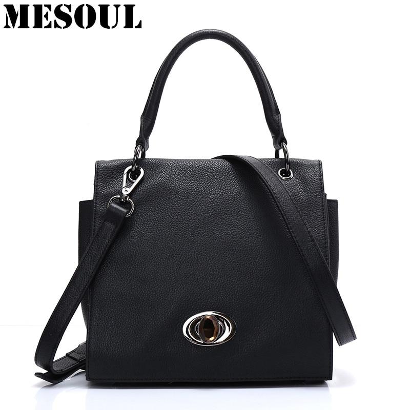 100% Real Leather Ladies Handbags Women Genuine Leather Shoulder Bags Black Messenger Bag High Quality Designer Luxury Brand Bag