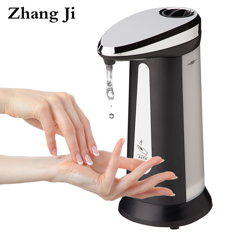 400ml abs automatic liquid soap dispensers for kitchen bathroom smart sensor touchless sanitizer dispensador zj118 - Automatic Soap Dispenser