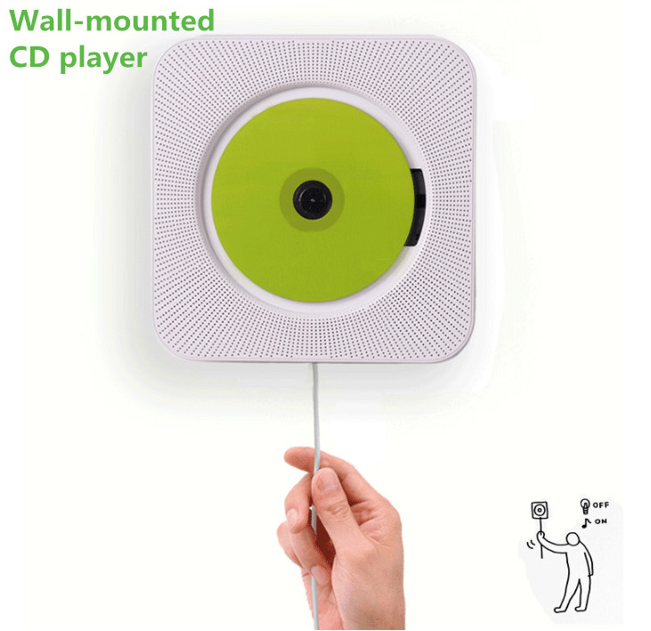 CD player wall mounted CD player household hanging acoustics prenatal education early education English use bluetooth