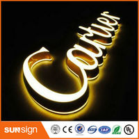 Advertising Frontlit Led Letter Sign Acrylic Led Channel Letter Outdoor Indoor Led Logo