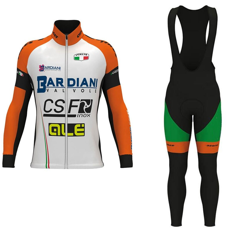 spring autumn 2017 Pro team BARDIANI CSF cycling jersey Bicycle maillot breathable MTB bike clothing Ropa Ciclismo GEL pad