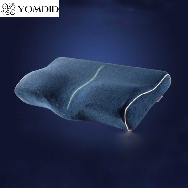 Dedicated Butterfly-shaped Memory Pillow Processing Neck Protection Slow Rebound Memory Cotton Pillow Cervical Health Pillow Home Textile