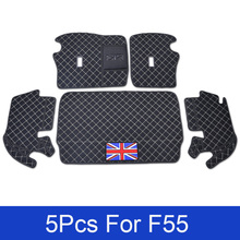 1set Car Accessories Auto Rear Boot Liner Trunk Cargo Floor Mat Tray Carpet Protector For BWM Mini Cooper F55 Car styling
