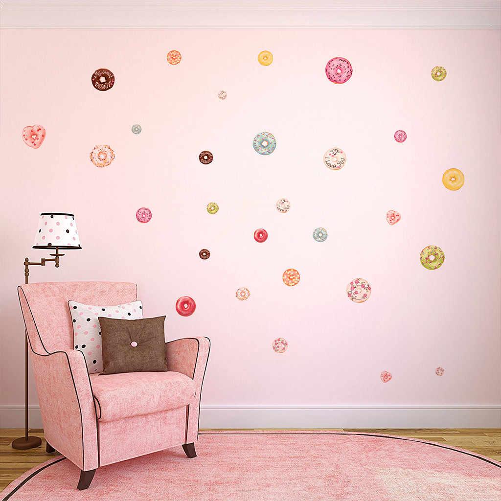 Kakuder סופגנייה מדבקות קיר מדבקות אמנות חדר להסרה מדבקות DIY 19 אפריל 19 DropShipping DIY רצפה/קיר מדבקה