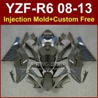 Flat black fairings for YAMAHA R6 2008 2009 2010 2011 2012 2013 Injection mold