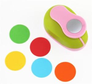 Image 2 - 3 peças (5cm,3.8cm,2.5cm) conjunto de perfuradores de artesanato, forma redonda, manual, crianças, perfuradores de buraco diy, cortador de papel de scrapbook, círculo perfurador