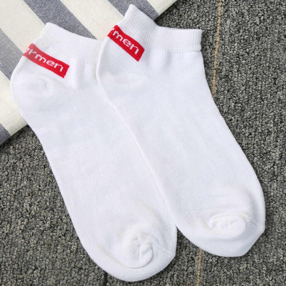 1 par unisex confortável listra algodão meias chinelos curto tornozelo