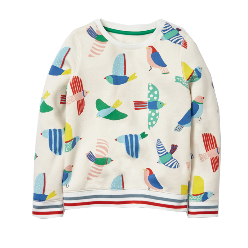 HTB1xFVGcvBNTKJjSszeq6Au2VXat - Girls High Quality Long Sleeve 100% Cotton Crew Neck Long Sleeve Sweatshirt