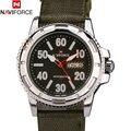 Moda marca NAVIFORCE analógico data de relógio de quartzo Casual relógios homens relógio de pulso relógio de prata masculino alça