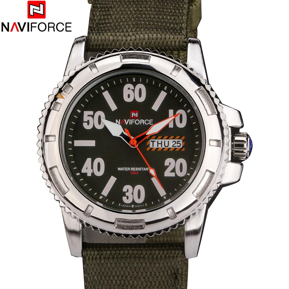 NAVIFORCE Fashion Brand Analog Date Men s Quartz Watch Casual Watches Men Wristwatch Silver Case relogio