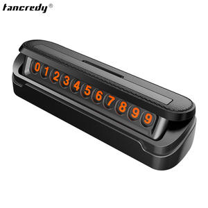 Tancredy Telephone Number Card Car Sticker Car Styling Temporary Parking Card