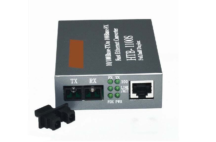 Fiber Optical Media Converter 10/100Mbps RJ45 Single Mode Converter 25KM
